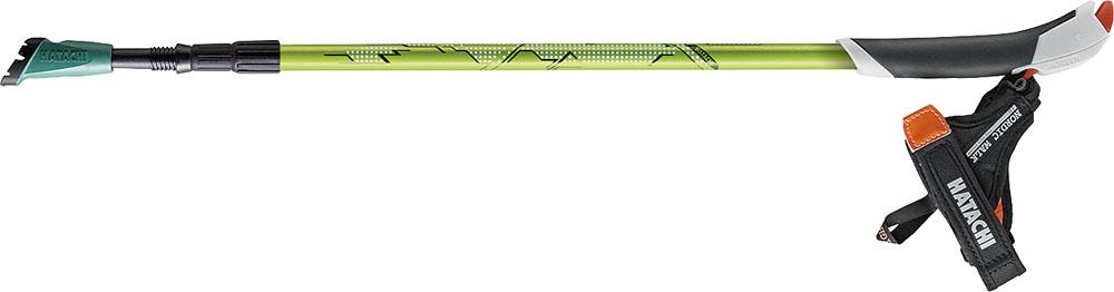 HATACHI(ハタチ)ウエルネススキーポールAGPコンパクトツアーWH1460ライムグリーン