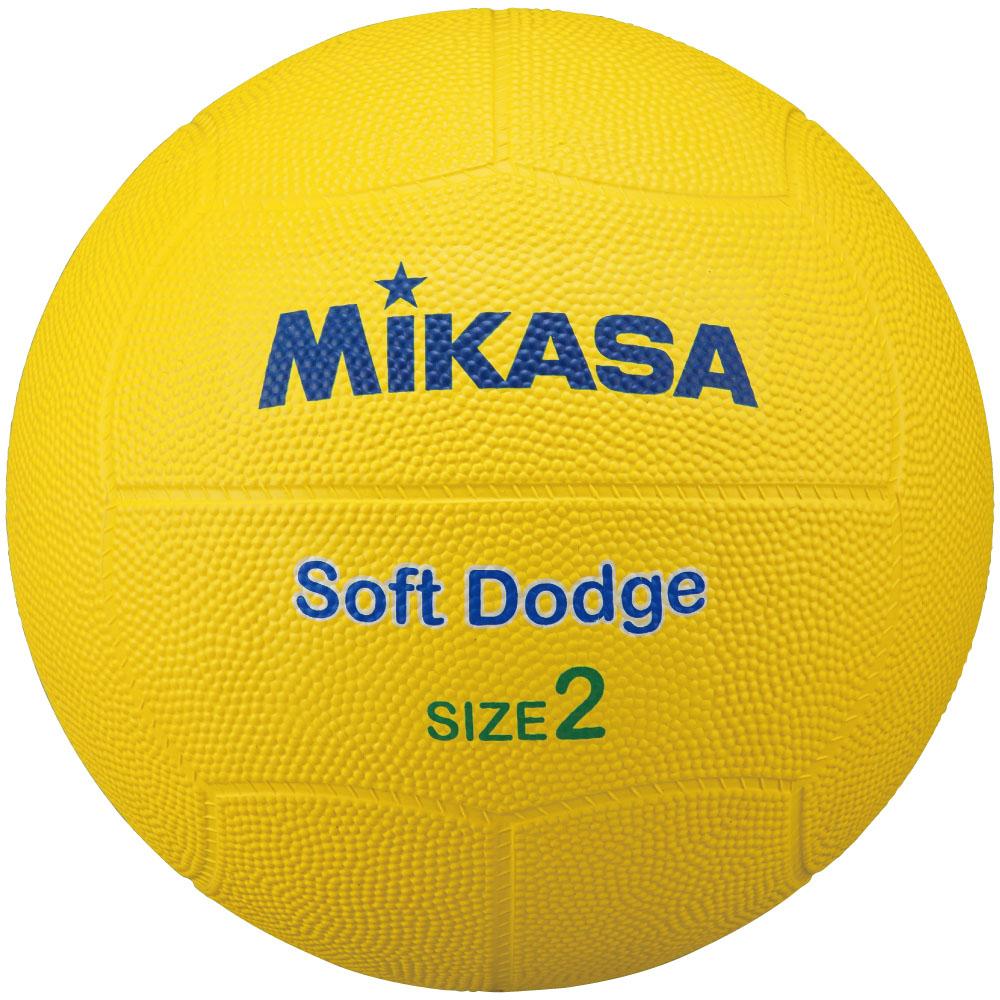 ミカサ MIKASA ボール ミカサ MIKASAソフトドッジ2号 ゴム 黄 STD-2SR-YSTD2SRY