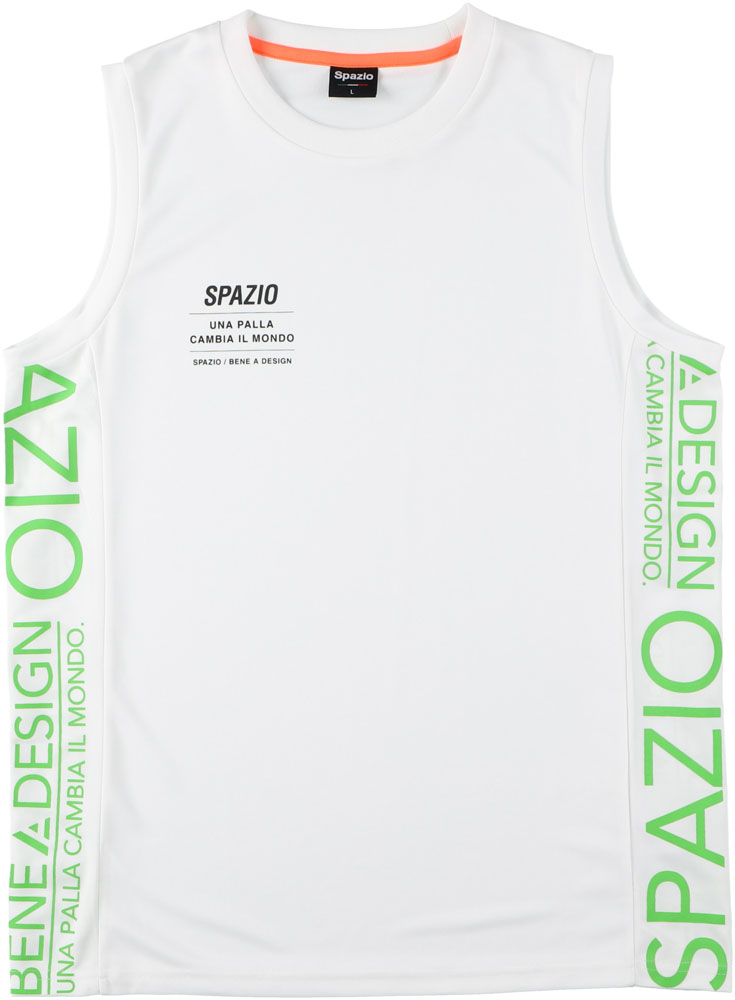 SPAZIO 出群 スパッツィオ フットサル Tシャツ 10日限定P最大10倍 ホワイト 海外輸入 スパッツィオフットサルジュニア 接触冷感ノースリーブGE074501