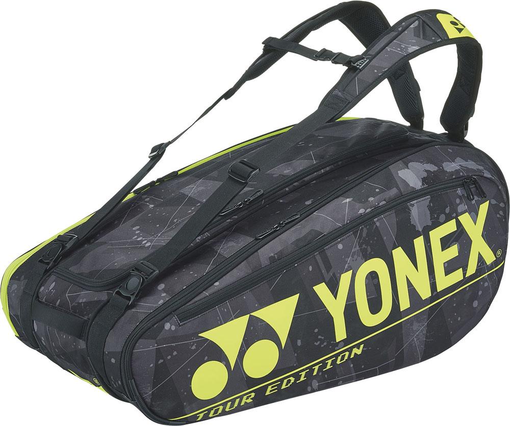 Yonex ヨネックス テニス バッグ イエロー ラケットバッグ9BAG2002N400 ヨネックステニステニスバッグ ブラック 信憑 定番
