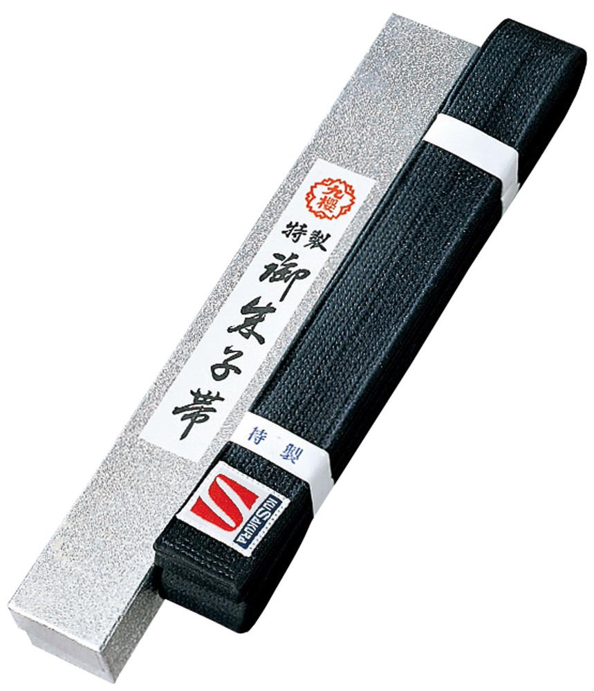KUSAKURA(クザクラ)格闘技特製 黒朱子帯JOG45B