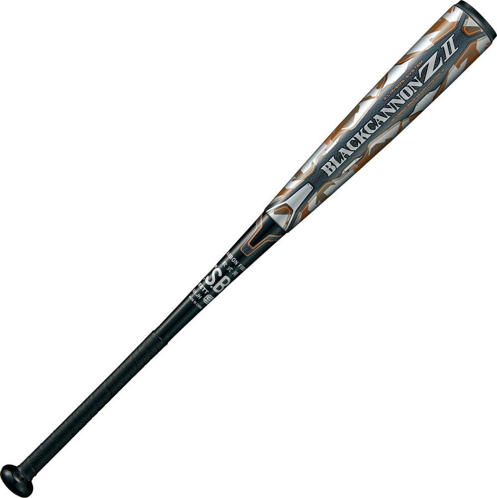 ZETT(ゼット)野球&ソフト一般軟式野球用 FRP製 カーボン製 バット ブラックキャノン-Z2 84cmBCT359241900