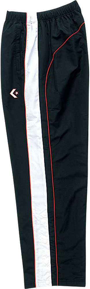 CONVERSE コンバース バスケット トレーニングウェア 日本 ブラック 直送商品 ホワイト 裾ボタンCB482502P1911 コンバースバスケットジュニア ウォームアップパンツ