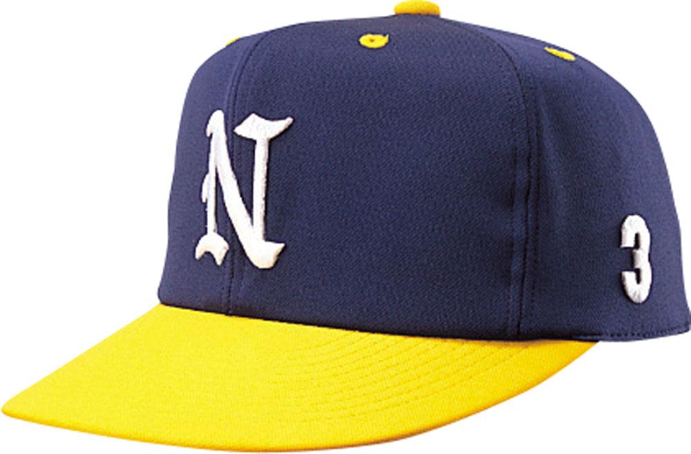 ナショナルハット 最安値挑戦 NATIONAL HAT 帽子 ネイビー イエロー HAT男女兼用 新入荷 流行 野球帽子 オールニットN7522NY ジュニア