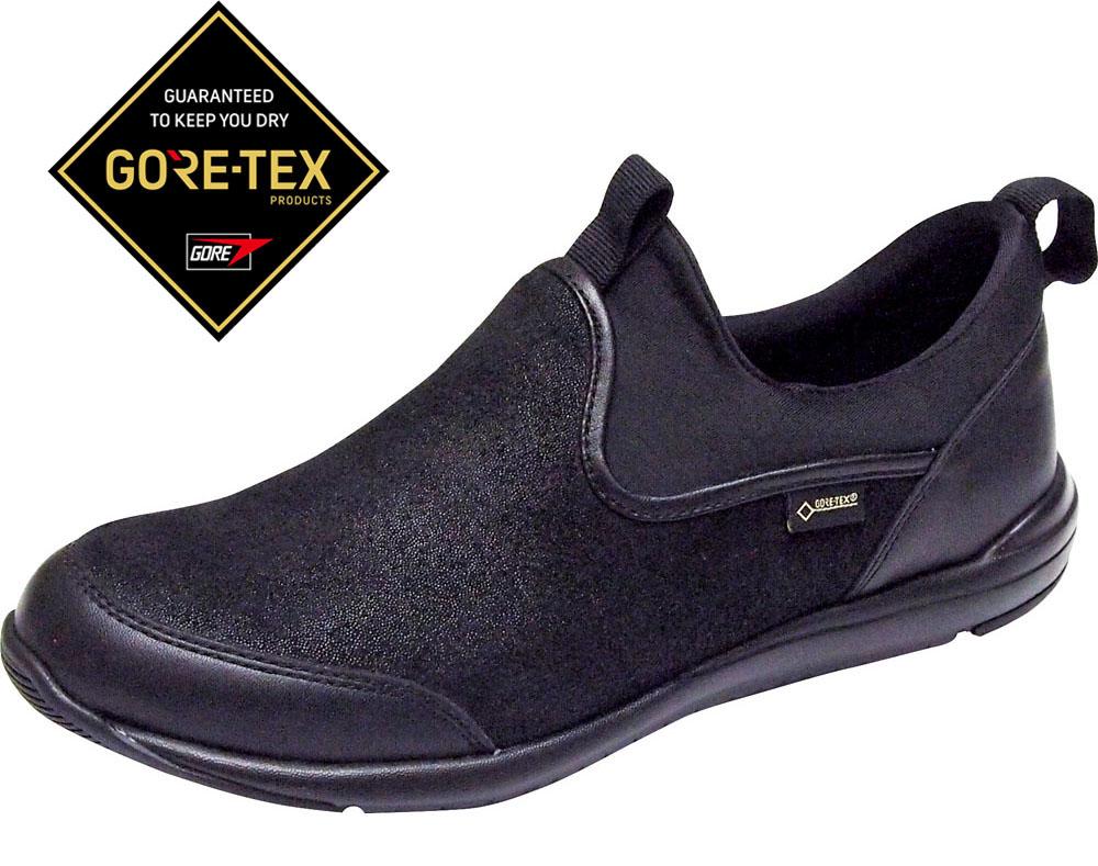 マドラスウォーク(madras Walk)カジュアルシューズマドラスウォーク GORE-TEX ストレッチシリーズ スリッポン レディースMWL1006BLA