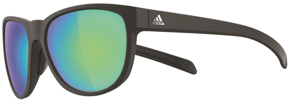 adidas(アディダス)陸上トラックゴーグル・サングラスランニング サングラス WILDCHARGE マットブラック×グレイ・ブルーミラーA425006055