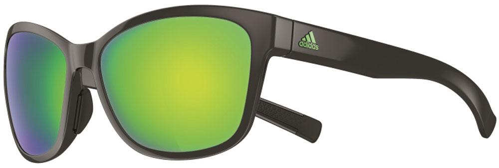 adidas(アディダス)陸上トラックゴーグル・サングラスランニング サングラス EXCALATE シャイニーブラック×グレイ・グリーンミラーA428006054