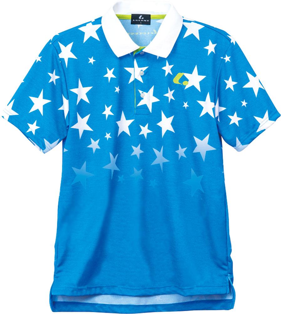 LUCENT(ルーセント)テニスUNI ゲームシャツ ブルーXLP8297