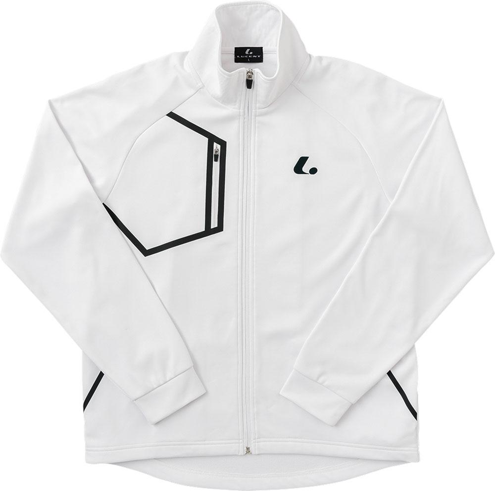 LUCENT(ルーセント)テニストレーニングウェアユニセックス ウォームアップシャツ ホワイトXLW4800
