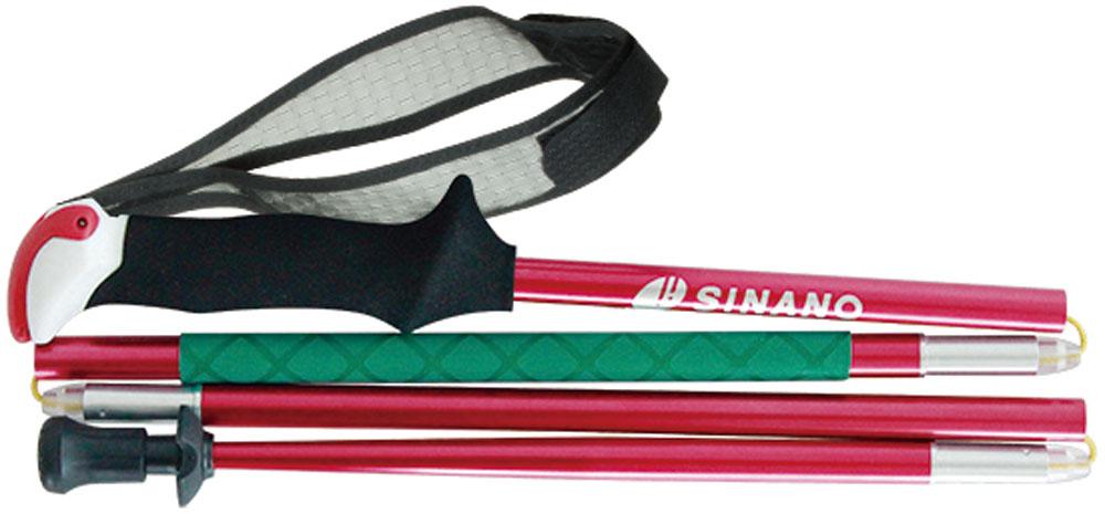 SINANO(シナノ)アウトドアスキーポール登山 トレイルランニング 専用ポール トレランポール 13.6 Pro レッド 110 cm113612
