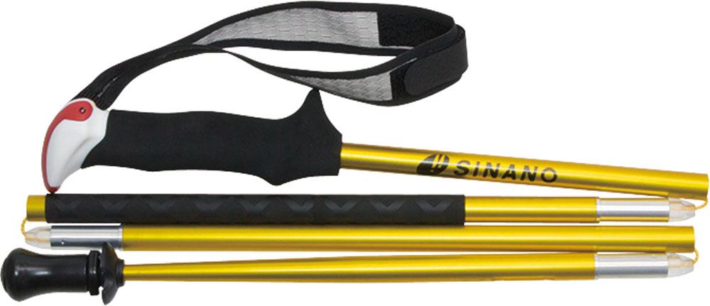 SINANO(シナノ)アウトドアスキーポール登山 トレイルランニング 専用ポール トレランポール 13.6 Pro ゴールド 110 cm113617