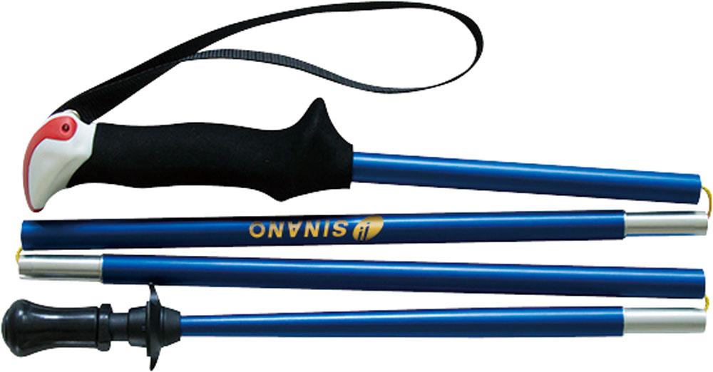 SINANO(シナノ)アウトドアスキーポール登山 トレイルランニング 専用ポール トレランポール 14.0 ブルー 105 cm113621