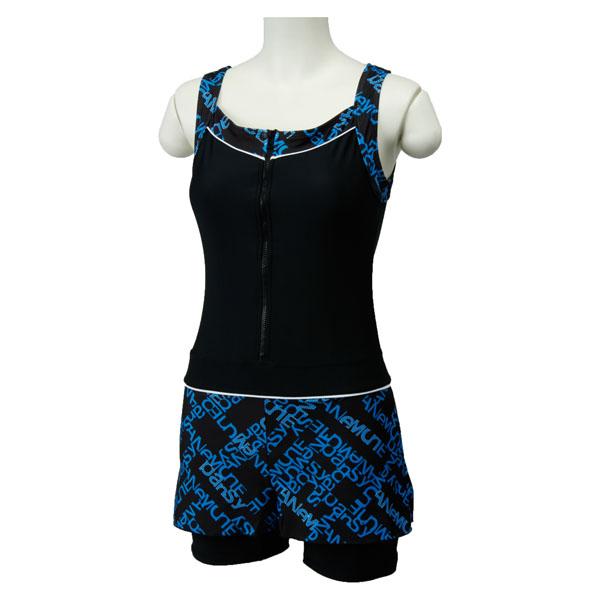 LACIELO(ラシエロ)水泳水球競技水着レディース 水着 キュロットスカート付 ワンピースLAO1501ブルー
