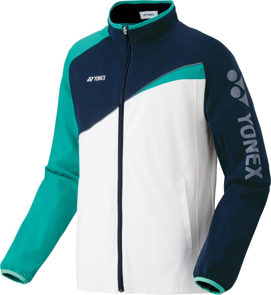 Yonex(ヨネックス)テニストレーニングウェア【男女兼用 テニスウェア】 UNI ニットウォームアップシャツ(フィットスタイル)52012ホワイト/ネイビー