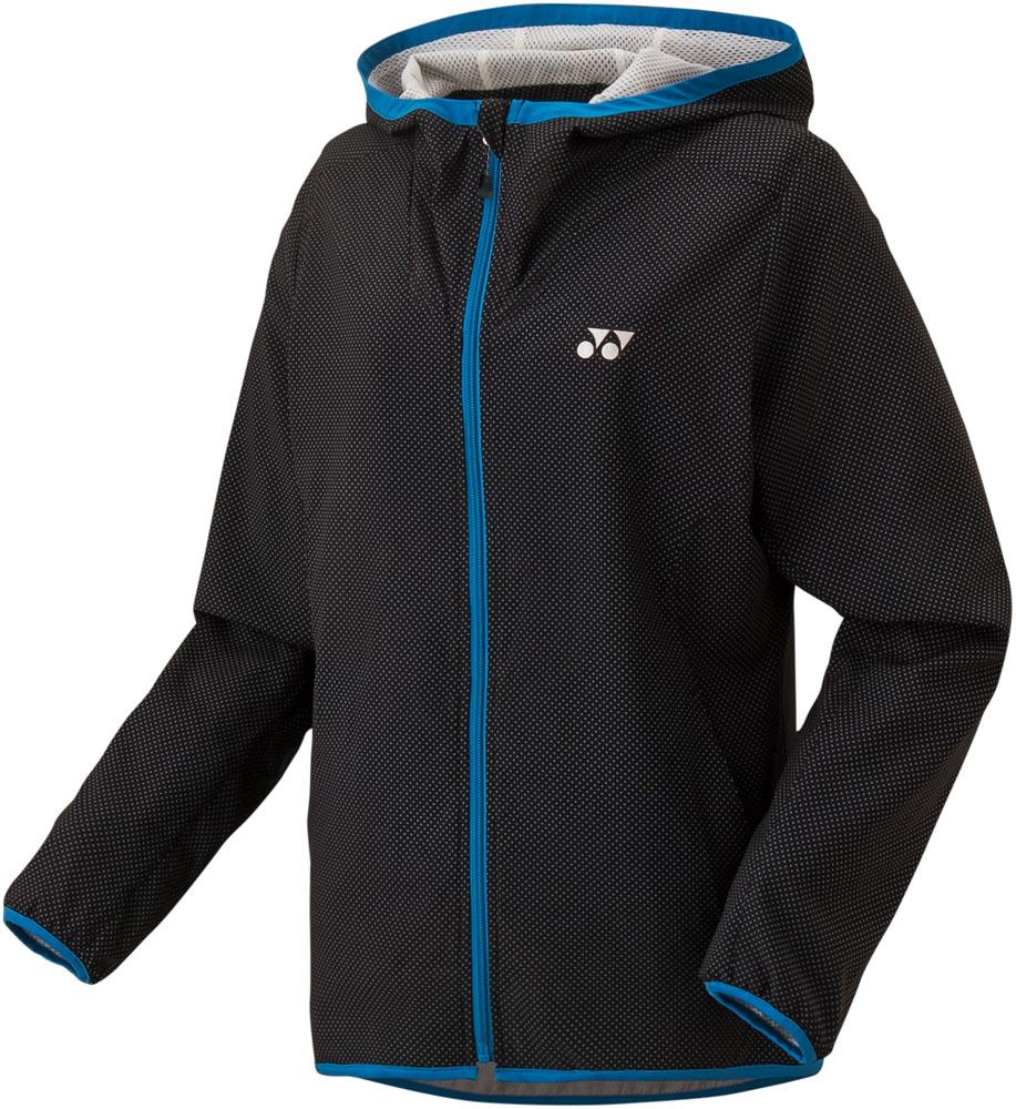 Yonex(ヨネックス)テニストレーニングウェアレディース テニスウェア 裏地付ウォームアップパーカー フィットスタイル57035ブラック