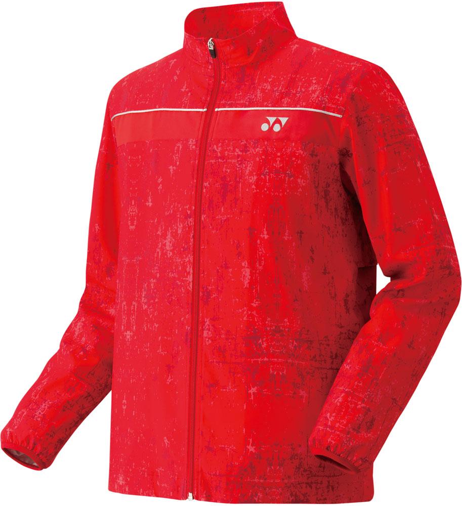 Yonex(ヨネックス)テニスウインドウェア(男女兼用 テニスウェア) UNI 裏地付ウィンドウォーマーシャツ70056サンセットレッド