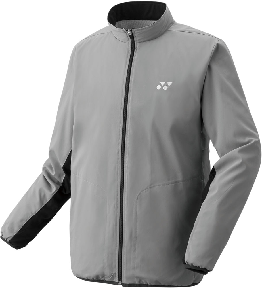 Yonex(ヨネックス)テニスウインドウェアユニセックス 裏地付ウィンドウォーマーシャツ(フィットスタイル)70059グレー