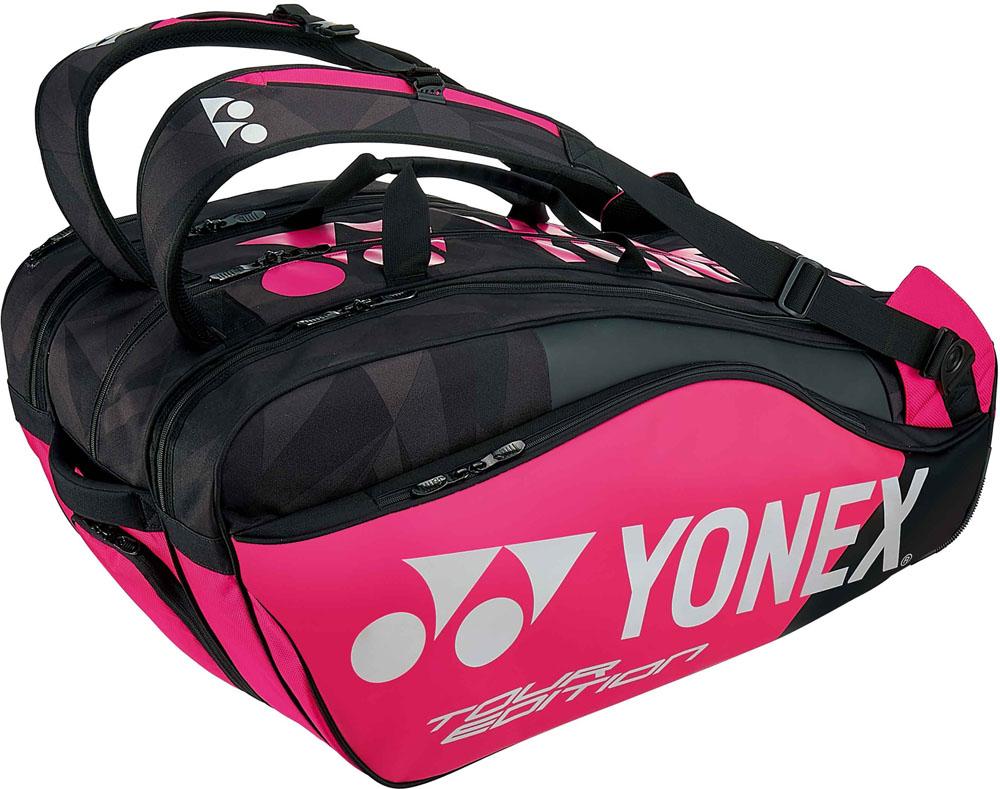 Yonex(ヨネックス)テニスバッグラケットバッグ9 ラケット9本収納BAG1802Nブラック/ピンク