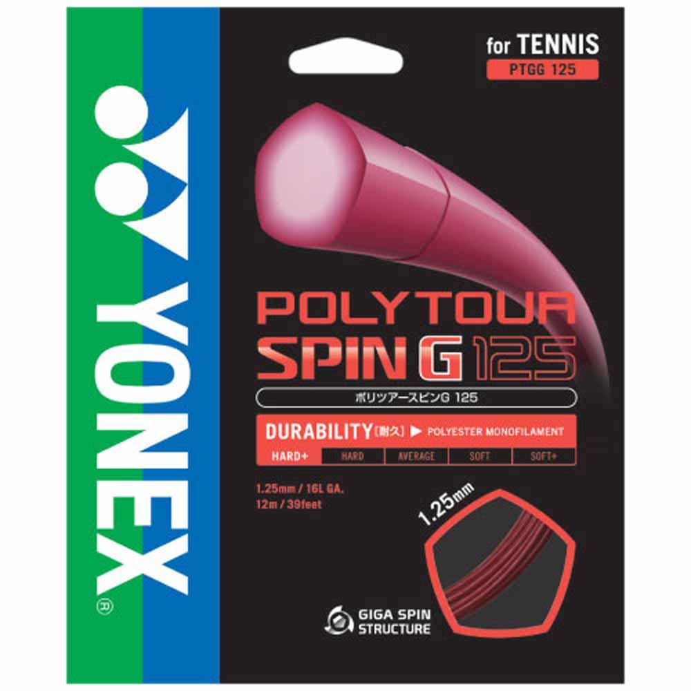 Yonex(ヨネックス)テニスガット・ラバーポリツアースピンG125(240mロール)PTGG1252DRED