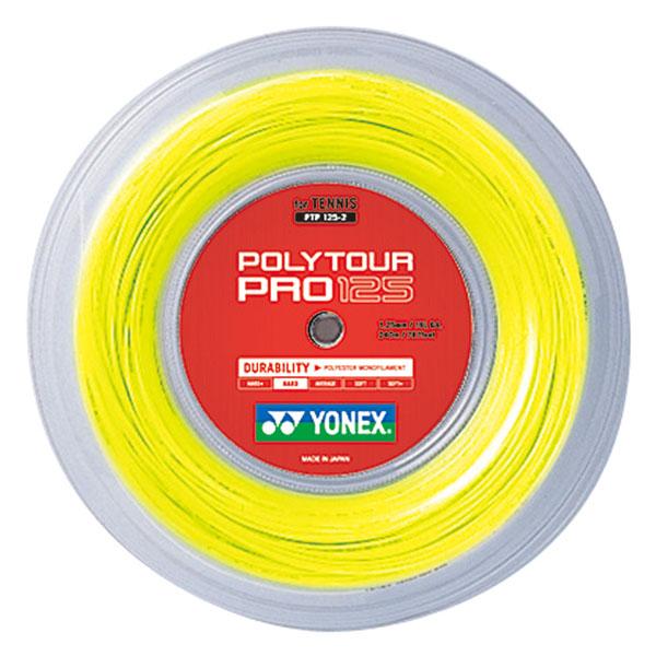 Yonex(ヨネックス)バドミントンガット・ラバーポリツアープロ125(240m)PTP1252フラッシュイエロー