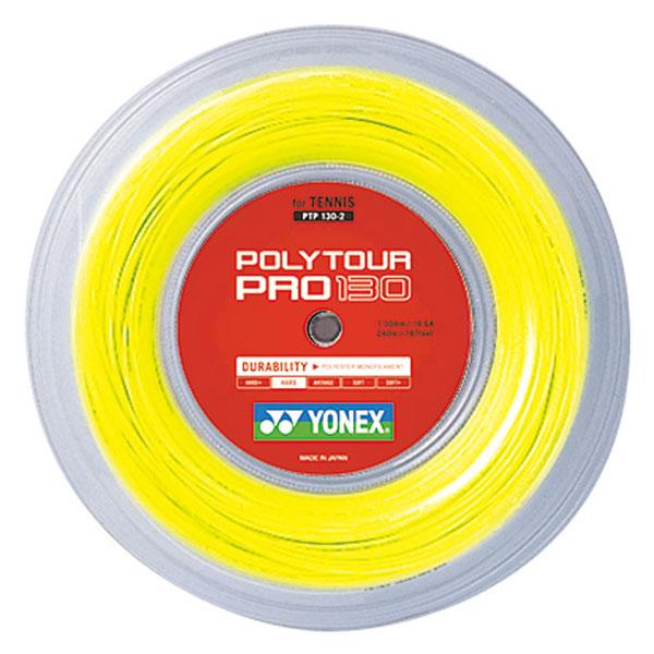 Yonex(ヨネックス)バドミントンガット・ラバーポリツアープロ130(240m)PTP1302フラッシュイエロー