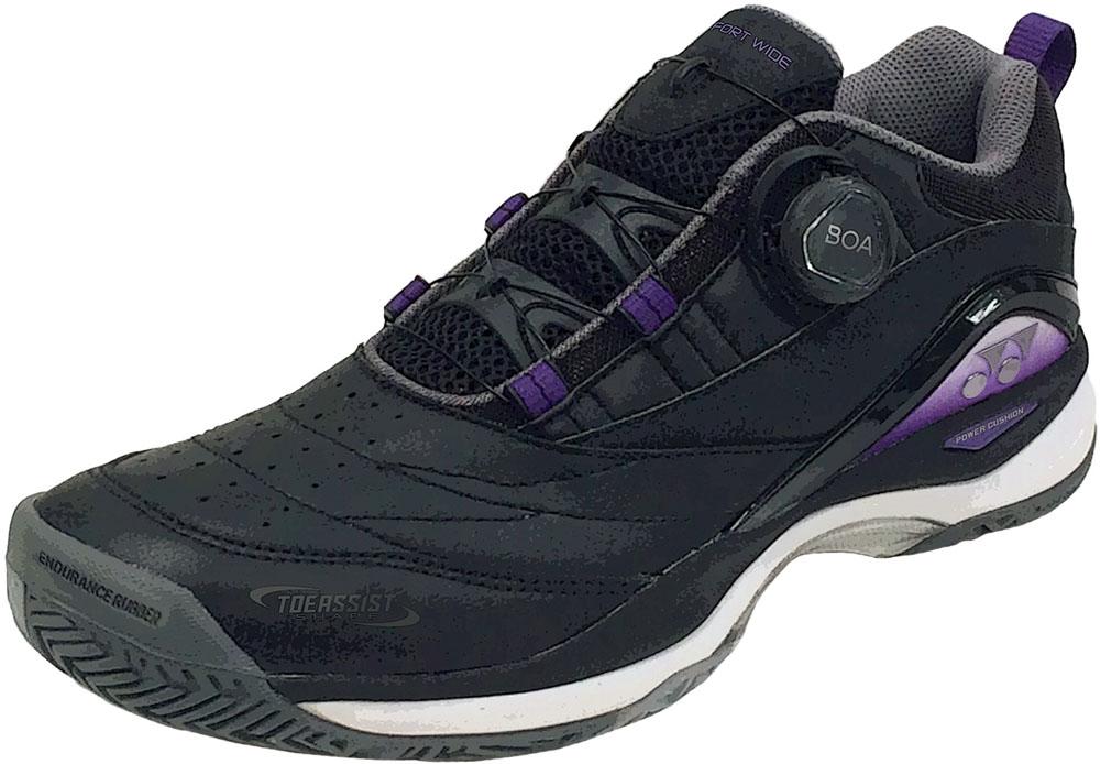 Yonex(ヨネックス)テニスシューズ男女兼用 オールコート用テニスシューズ パワークッションコンフォート W D2 AC ブラック×パープルSHTCWD2Aブラック/パープル