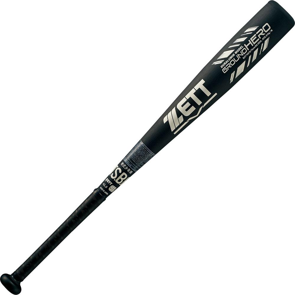 ZETT(ゼット)野球&ソフト野球バット少年軟式 金属製バット グランドヒーロー 76cmBAT74976ブラック/シルバー