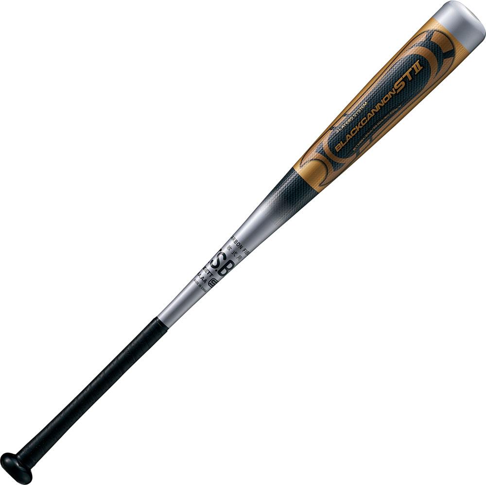 ZETT(ゼット)野球&ソフト野球バット(一般軟式 FRP(カーボン)製バット) ブラックキャノンST 84cm M号ボール対応品BCT31884シルバー