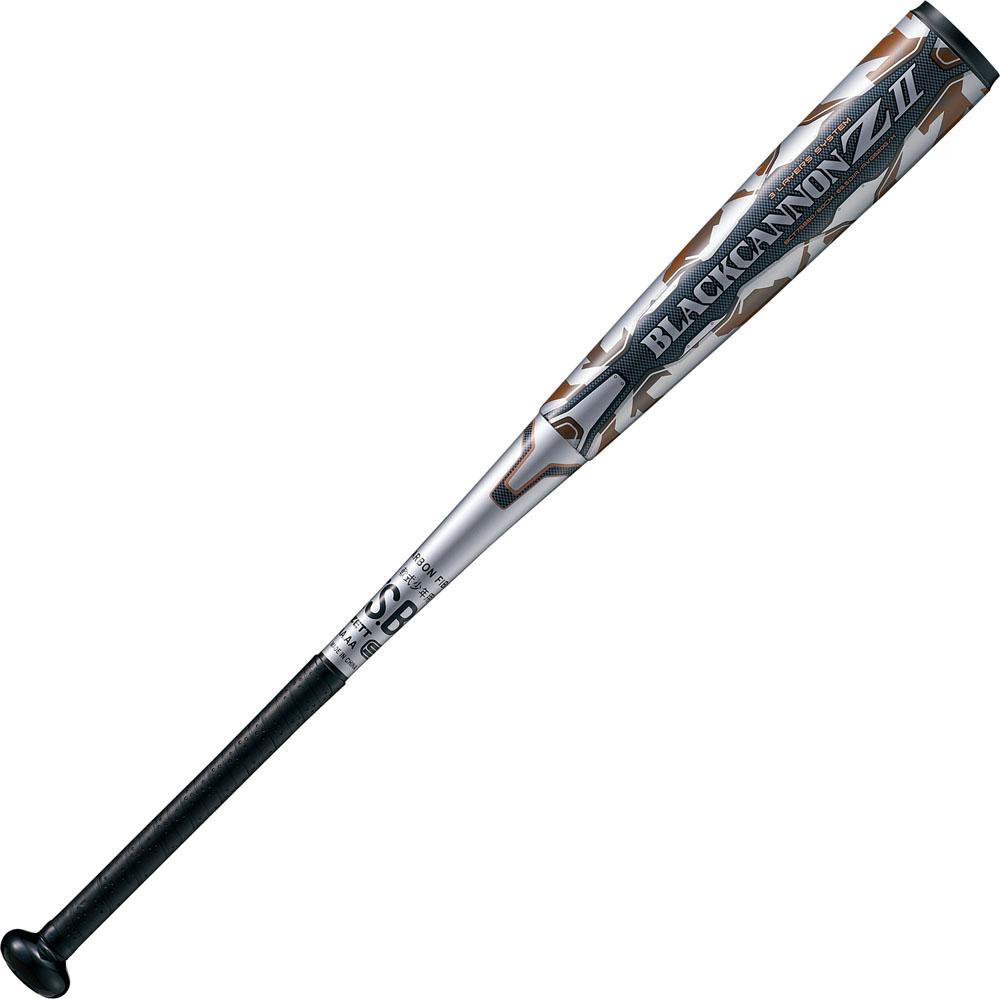 ZETT(ゼット)野球&ソフト野球バット(少年軟式野球用 FRP(カーボン)製バット) ブラックキャノンゼット2 80cm BLACKCANNON Z2 新球J号ボール対応品BCT75880シルバー