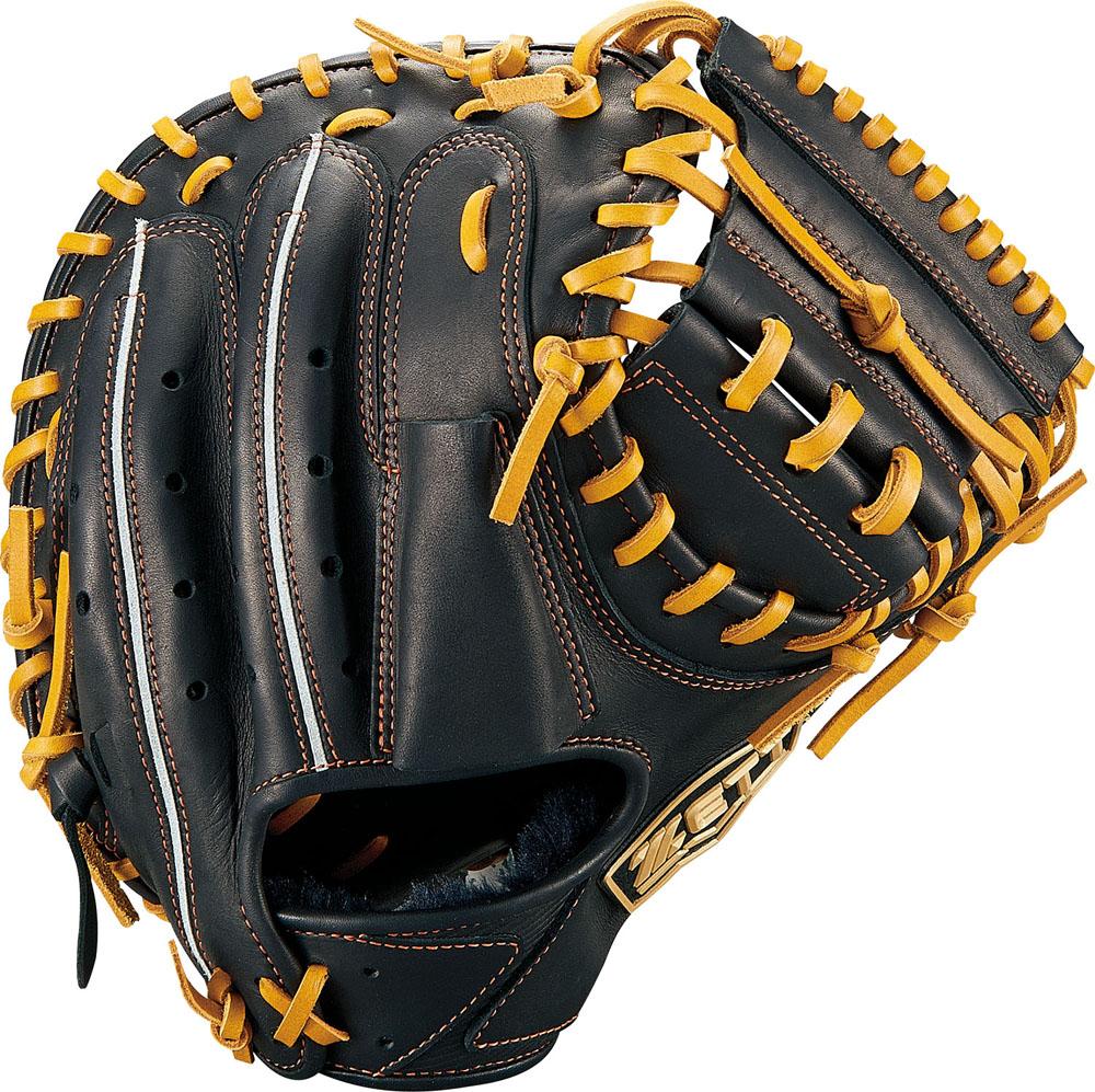 ZETT(ゼット)野球&ソフト野球グラブ少年軟式野球用 キャッチミット ゼロワンステージBJCB71912ブラック/オ-クB