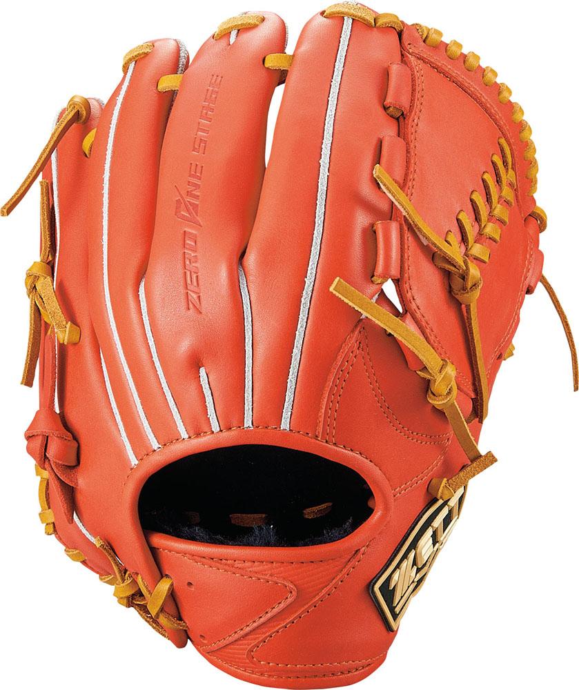 ZETT(ゼット)野球&ソフト野球グラブ野球 少年 軟式グラブ 投手用 ゼロワンステージBJGB71930Dオレンジ/オークB