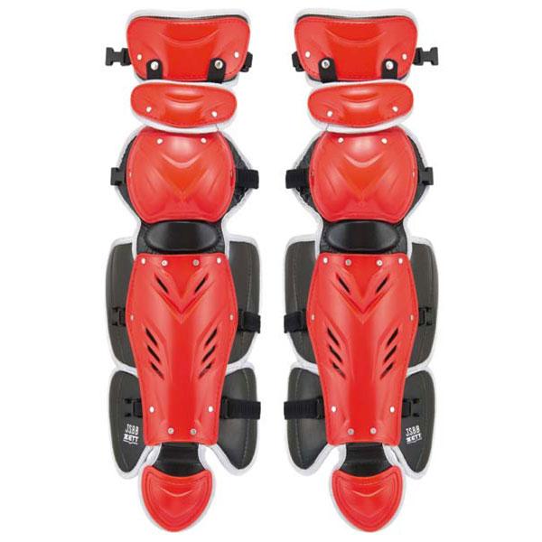 ZETT(ゼット)野球&ソフトマスク・プロテクタープロステイタス 軟式野球用レガーツ BLL3295BLL3295レッド/Sグレー