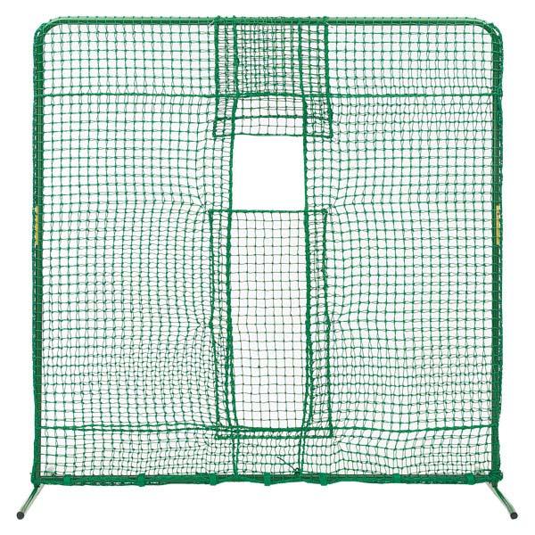 【高価値】 ZETT(ゼット)野球&ソフトネットピッチングマシン・ソフトボールマシン前ネット(脚部回転式)脚部鉄製BM132Z, クラテグン 536590be