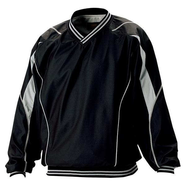 【ラッキーシール対象】ZETT(ゼット)野球&ソフトウインドウェア長袖/半袖切り替え式ハーフジップジャンパーBOV515ネイビー/ホワイト