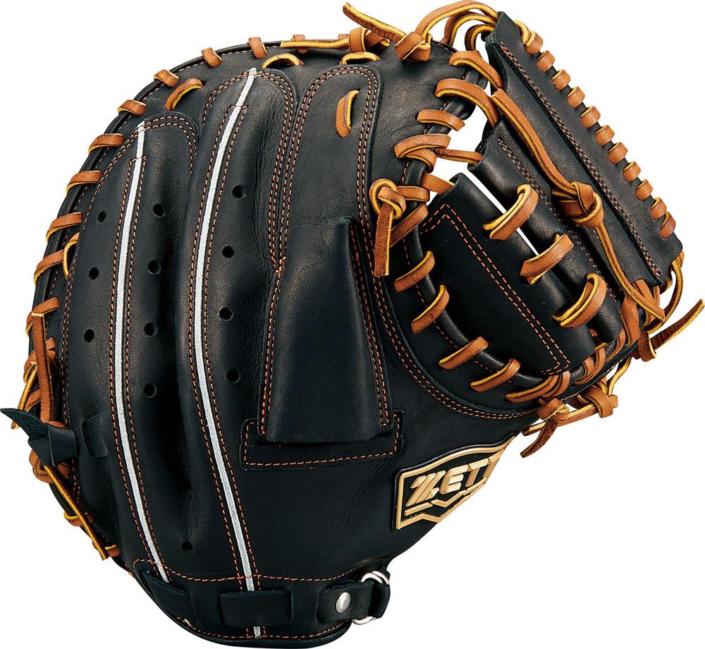 ZETT(ゼット)野球&ソフト野球グラブ野球 軟式キャッチミット 捕手用 ウイニングロードBRCB33912ブラック/オ-クB