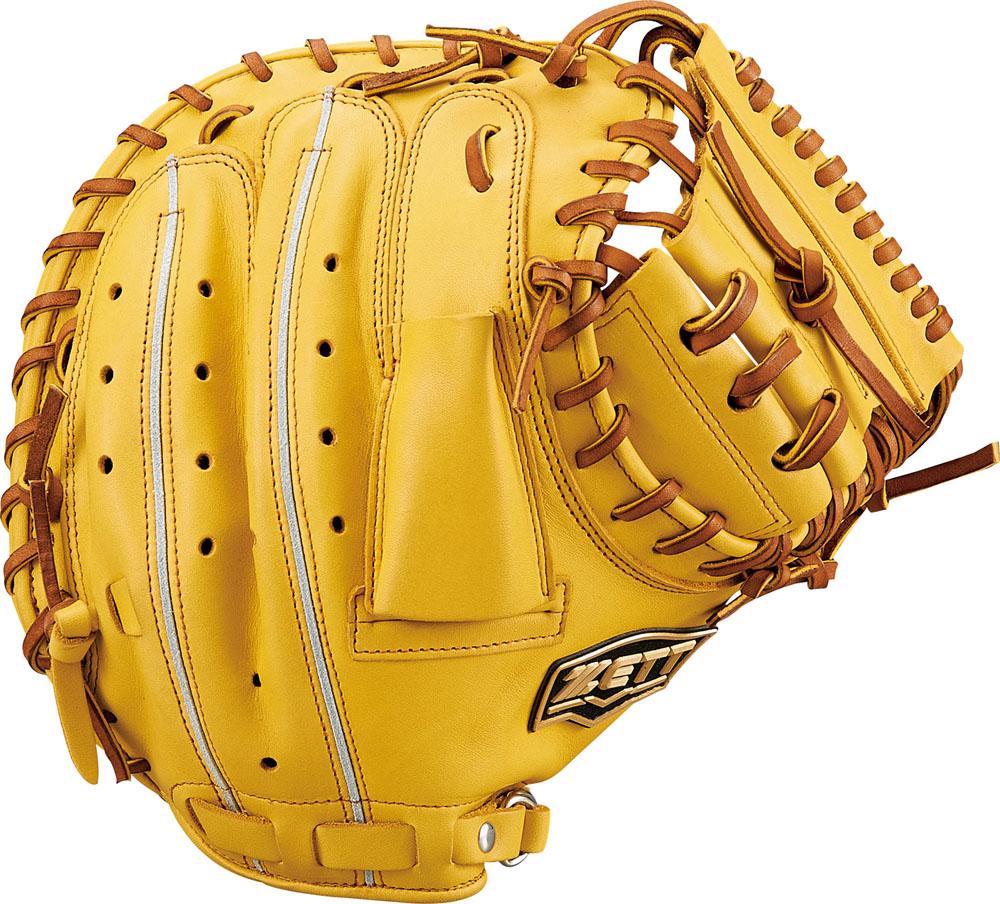 ZETT(ゼット)野球&ソフト野球グラブ野球 軟式キャッチミット 捕手用 ウイニングロードBRCB33912Tイエロー/オークB
