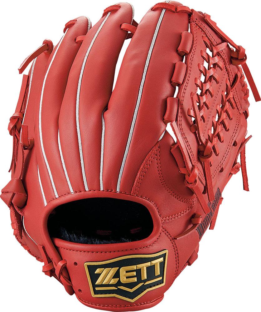 ZETT(ゼット)野球&ソフト野球グラブ野球 軟式グラブ オールラウンド用 デュアルキャッチBRGB34910レッド