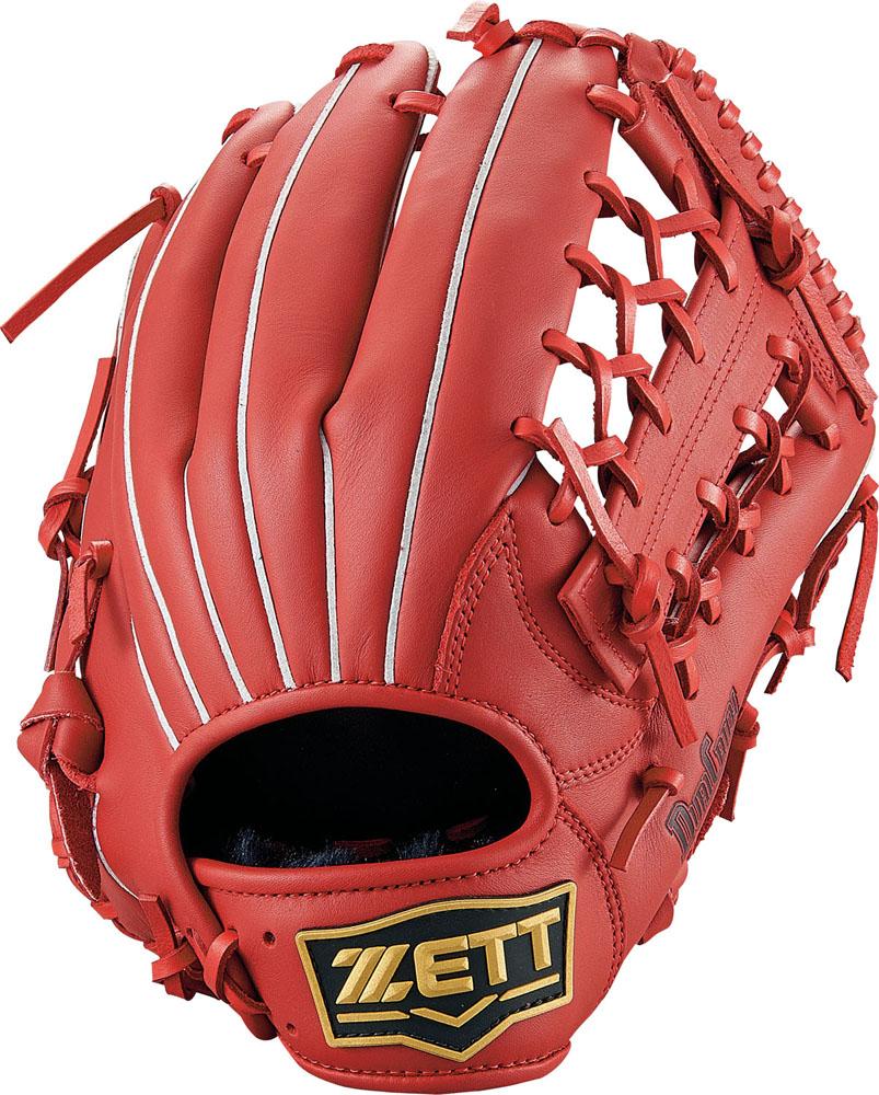 ZETT(ゼット)野球&ソフト野球グラブ野球 軟式グラブ オールラウンド用 デュアルキャッチBRGB34940レッド