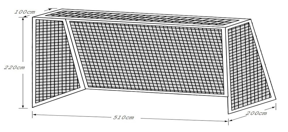 ゼット体育器具サッカーネットジュニア用サッカーゴールネットZN1645