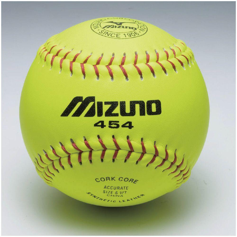 数量限定 ミズノ 野球 ソフトボール ボール カワイエローソフト ミズノ454 1P NEW ARRIVAL メンズ イエロー MIZUNO 2OS45400