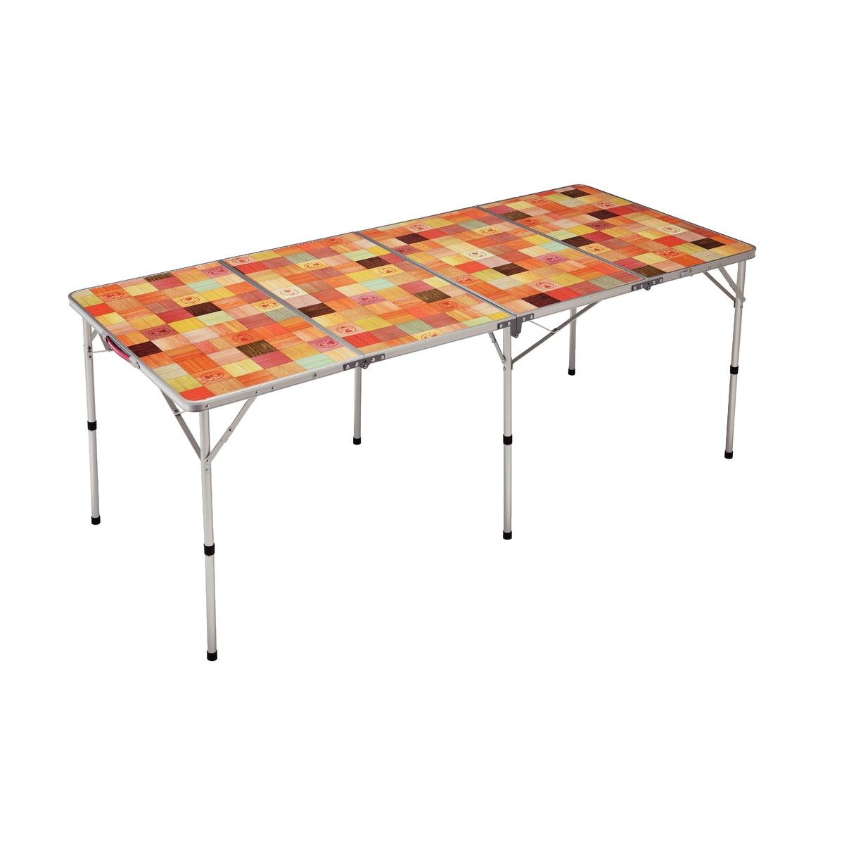 ● 【送料無料】 COLEMAN (コールマン) キャンプ用品 ファミリーテーブル ナチュラルモザイクリビングテーブル/180プラス 2000026749