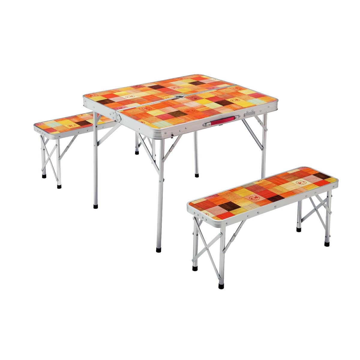 ● 【送料無料】 COLEMAN (コールマン) キャンプ用品 キッチンテーブル 一体型テーブル ナチュラルモザイクファミリーリビングセットミニプラス 2000026758