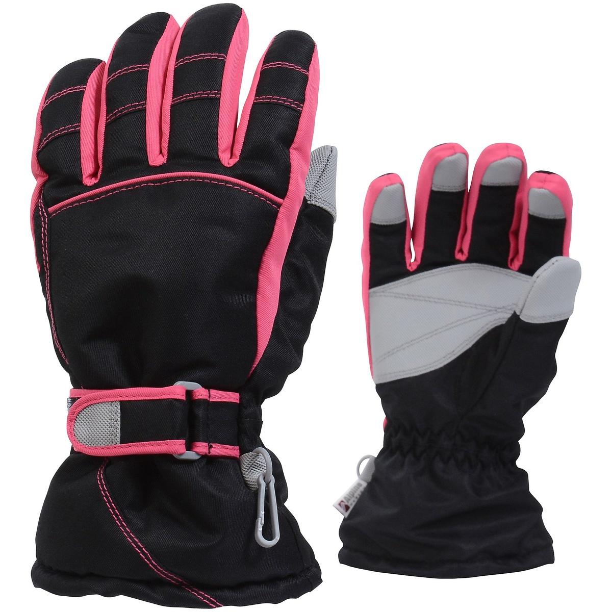 新登場 アルパインデザイン ウインター グローブ 手袋 ジュニア ジュニアウィンターグローブ Alpine DESIGN ピンク 祝日 BLK ガールズ ブラック AD-F16-405-005