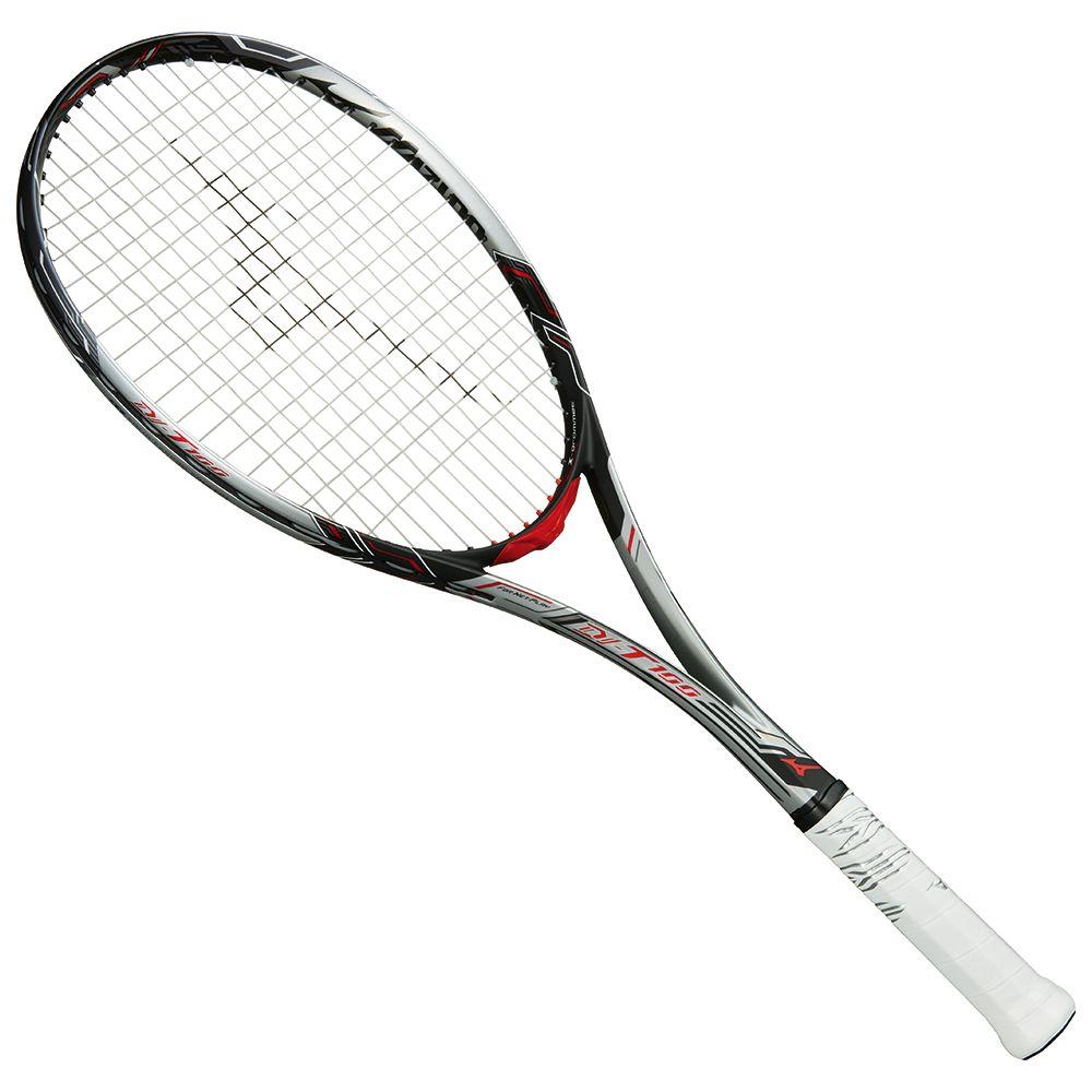 ● 【送料無料】 MIZUNO (ミズノ) 【フレームのみ】ソフトテニス フレームラケット DI-T100(ディーアイティー100) 03 ソリッドシルバー×ブラック 63JTN84303