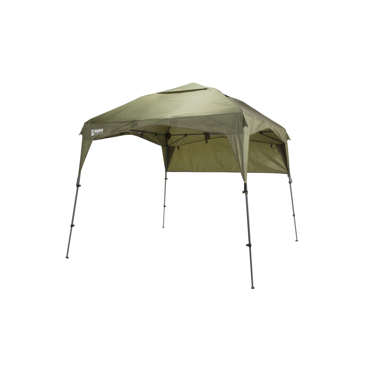 ● 【送料無料】 Alpine DESIGN (アルパインデザイン) キャンプ用品 ファミリータープ イージータープ 250 ワンハーフキャノピー コンパクト ダークグリーン AD-S18-402-056