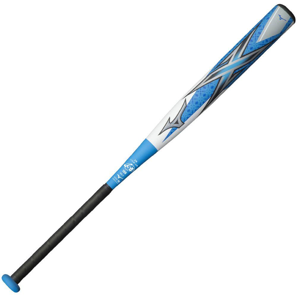【送料無料】 MIZUNO (ミズノ) ソフトボールバット MP 3ゴウカワヨウ エックス メンズ ホワイト×ブルー 1CJFS10684 0127