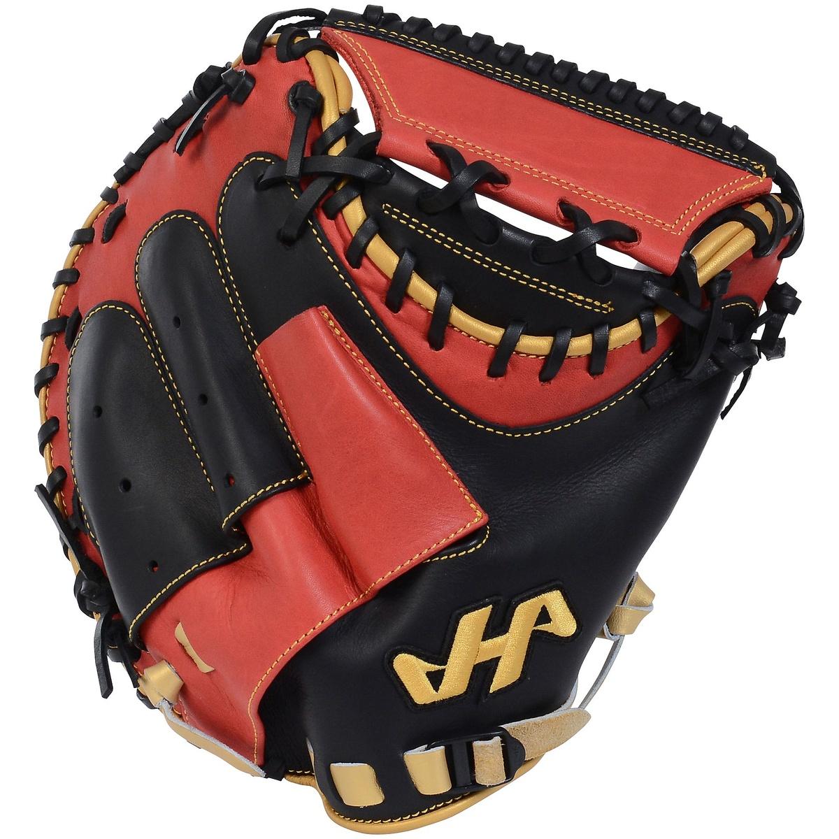 【送料無料】 HATAKEYAMA (ハタケヤマ) 野球 軟式キャッチャーミット右 左 限定軟式キャッチャーミットM2 メンズ 黒X赤X金 PRO-M2 B