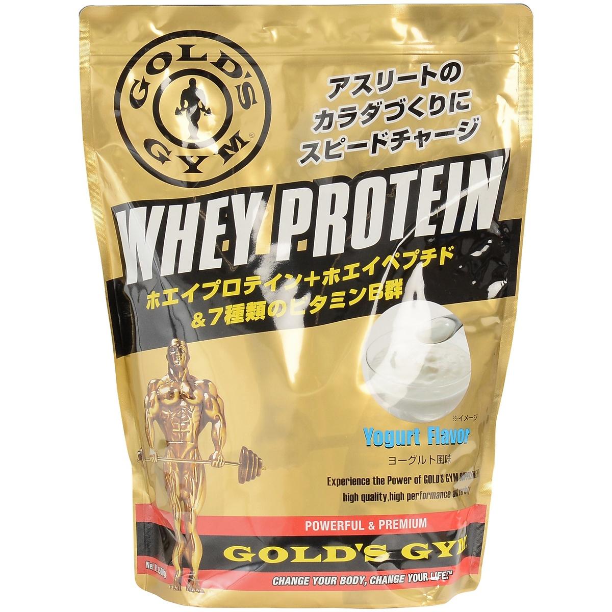 【送料無料】 GOLD'S GYM (ゴールドジム) サプリメント ホエイプロテイン ホエイプロテイン+ホエイペプチド&ビタミン ヨーグルト風味 1500g F5315