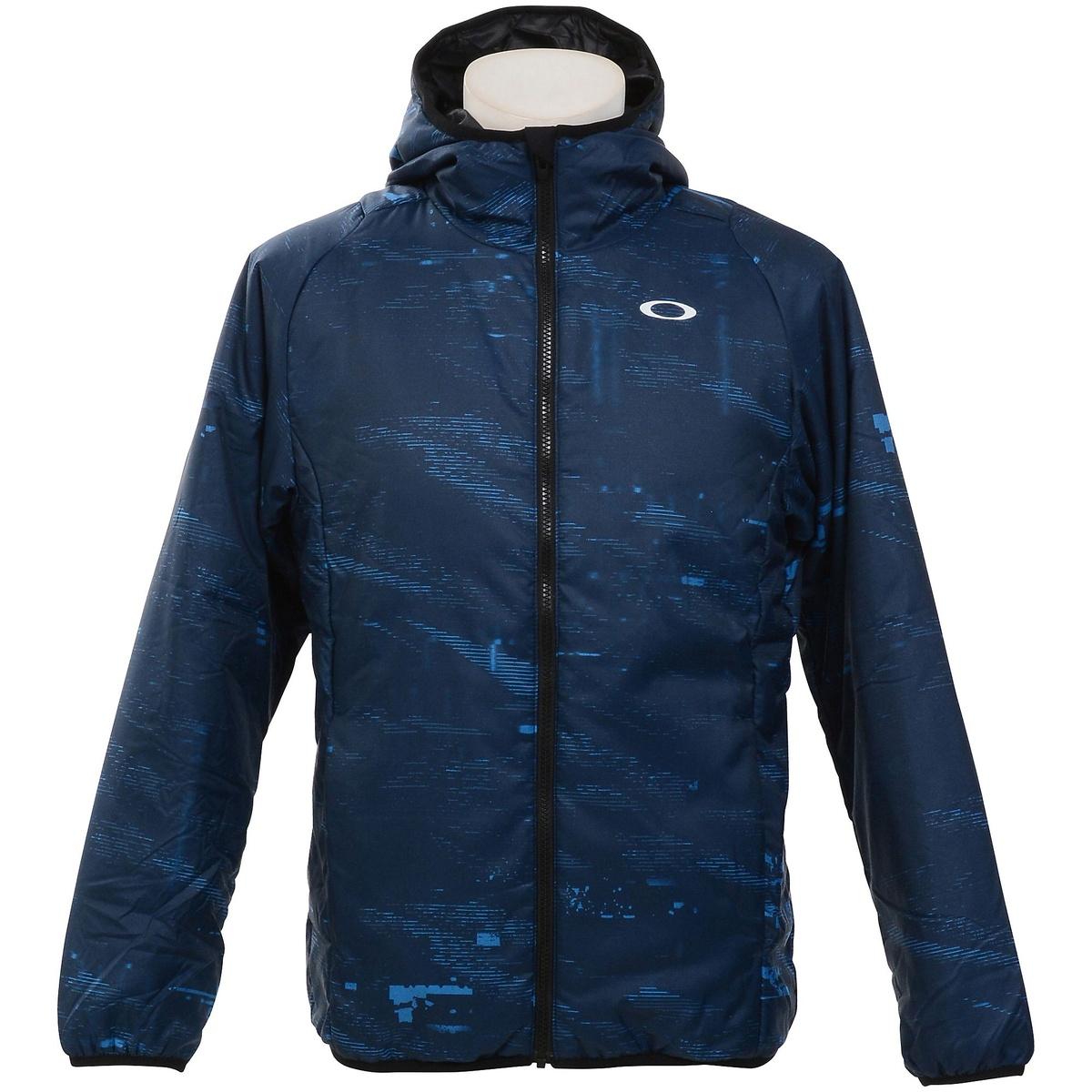 【送料無料】 OAKLEY(オークリー) メンズスポーツウェア ウインドアップジャケット ENHANCE GRAPHIC INSULATION JACKET 8.7 メンズ FATHOM 412628JP-6AC