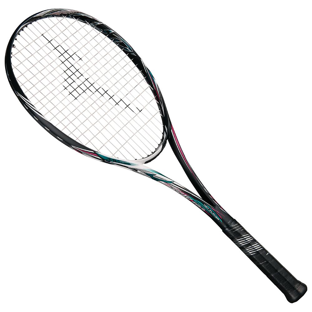 【送料無料】 MIZUNO (ミズノ) 【フレームのみ】ソフトテニス フレームラケット SCUD 05-C(スカッド05シー) 64:ハイブリッドブラック×ネオンマゼンタ 63JTN85664